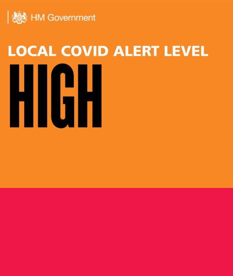 Birmingham Covid Alert High